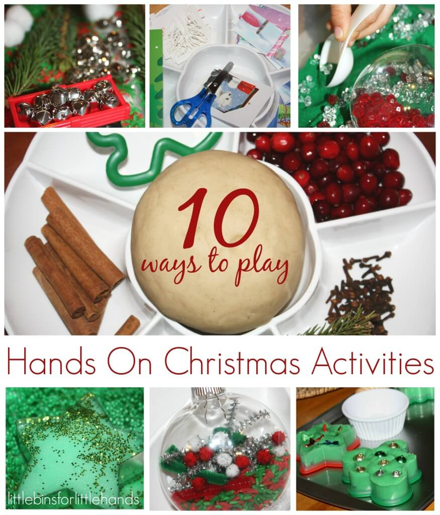 10 Christmas Activities hands On Play and Learning