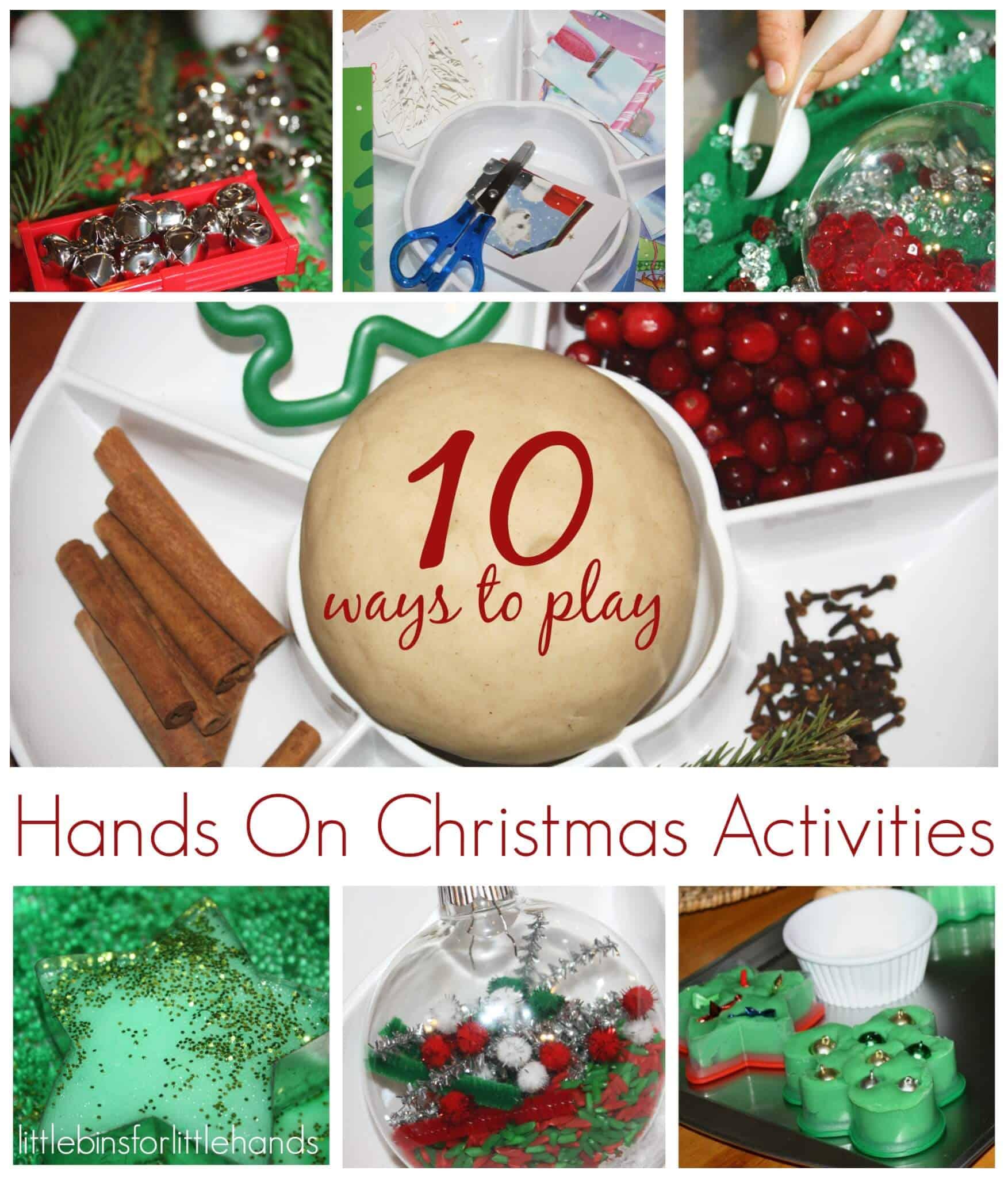 Christmas Activities For Kids.Top 10 Christmas Activities For Kids Little Bins For