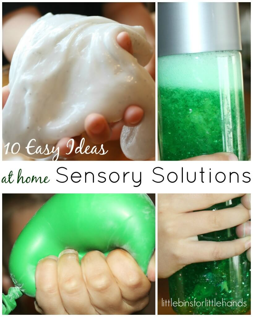 10 Easy Sensory Solutions at home