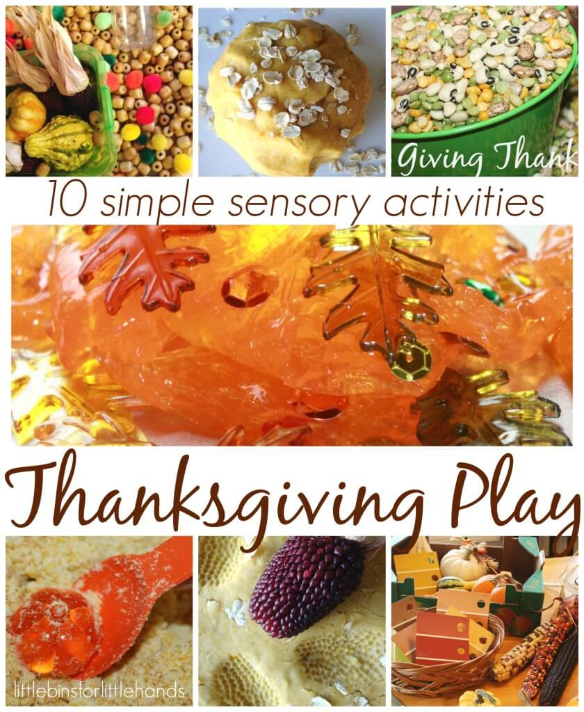 10 Thanksgiving Activities For Sensory Play
