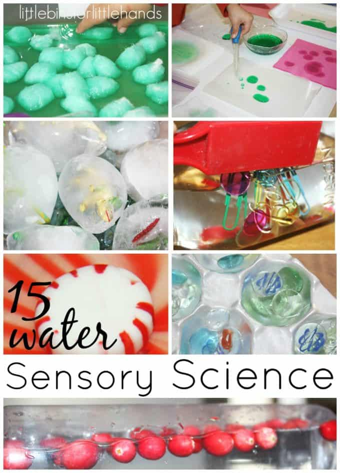 Water Sensory Science Activities for Kids Early Learning Play