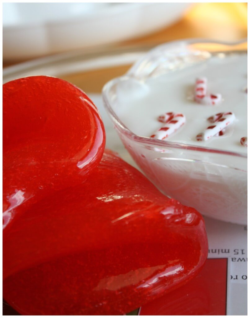 Candy Cane Slime Recipe White Slime and Red Clear Slime Separated