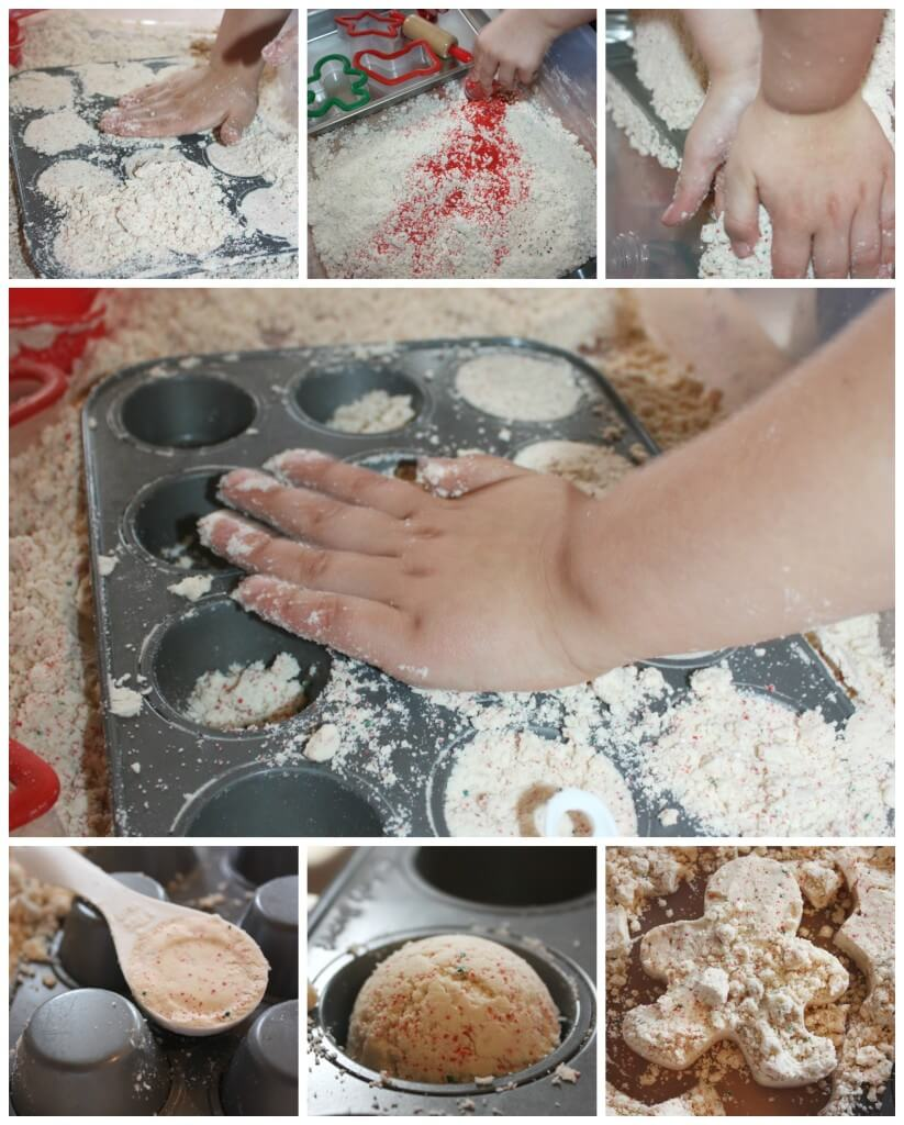 Christmas Cookie Cloud Dough Sensory Play Making Cookies and Muffins Cookie Cutter Play