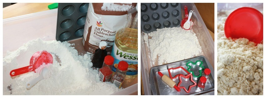 Christmas Cookie Cloud Dough Sensory Play Set Up