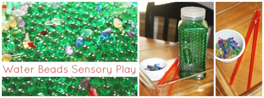 water beads are a great sensory bin filler