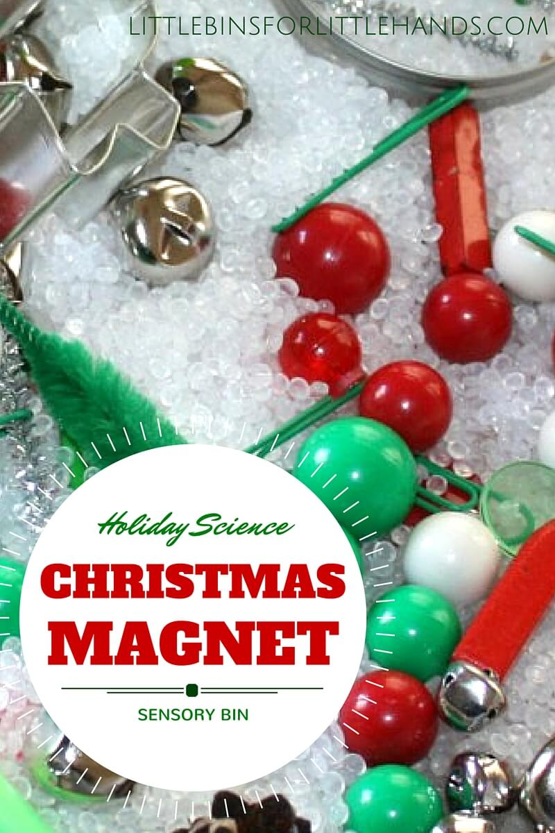 Christmas magnet science sensory play activity for kids holiday