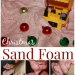 Christmas Sand Foam Sensory Play 2 Ingredient Sensory Play