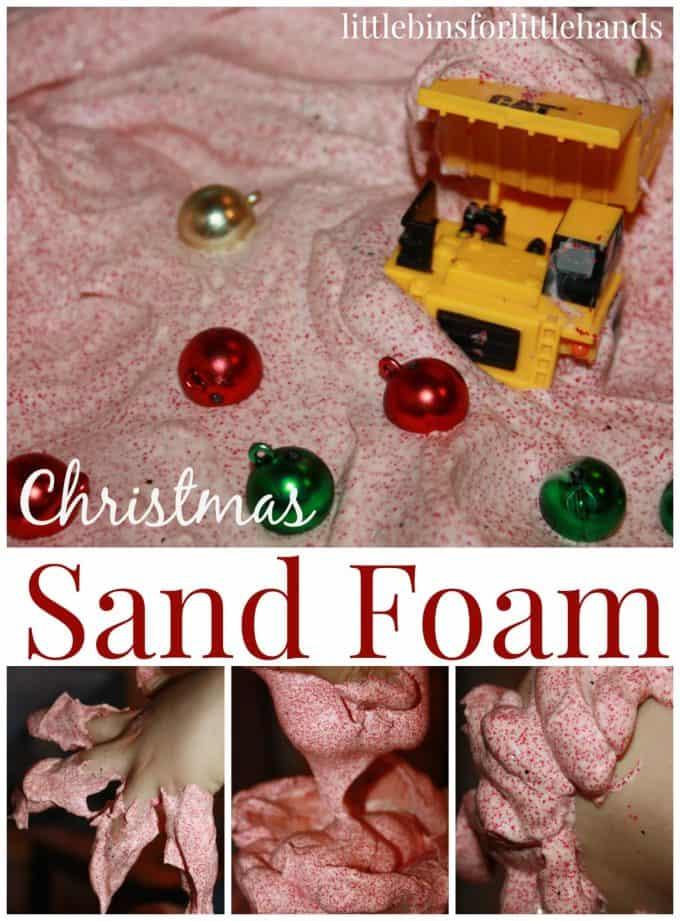Christmas Sand Foam Sensory Play 2 Ingredient Sensory Play