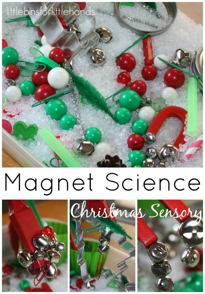 Christmas science activities and experiments for kids christmas sensory bin magnet science sensory play solutioingenieria Images