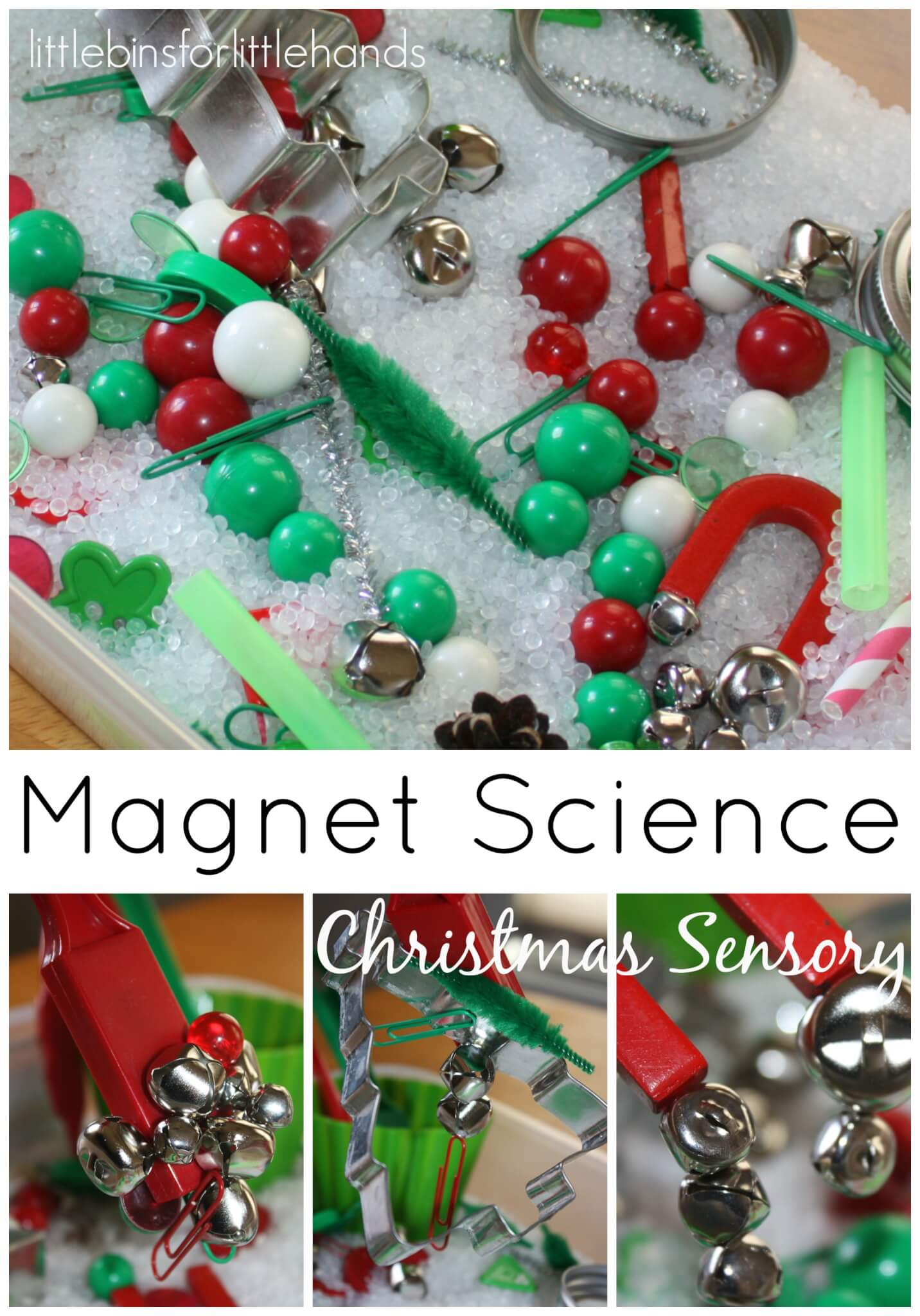 Christmas Decorations 3d Shapes Ks2 : Magnet science christmas sensory play bin