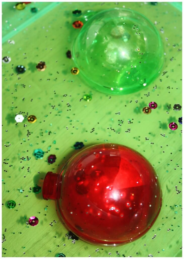 Christmas Sensory play water sensory bin