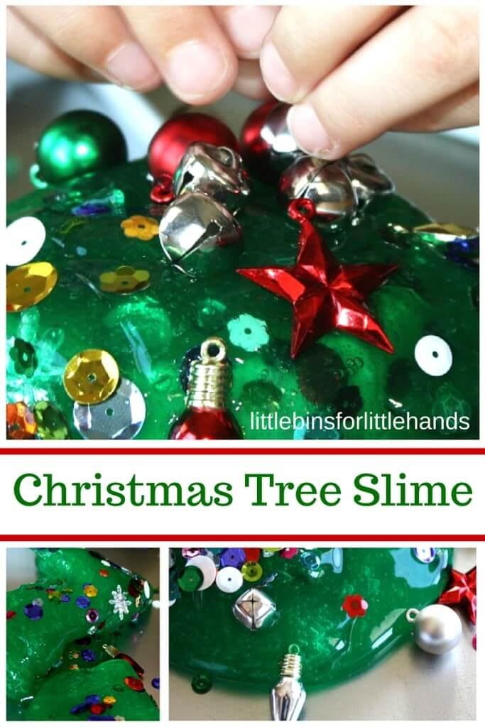 Christmas Tree Homemade Slime Recipe Ornament Activity Fine Motor Science
