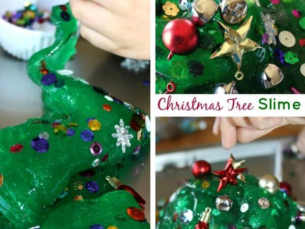Christmas Tree Homemade Slime