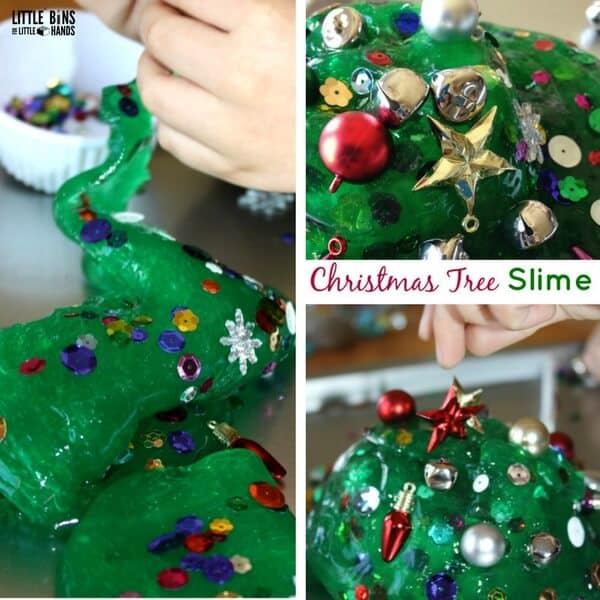 Christmas Tree Homemade Slime Recipe