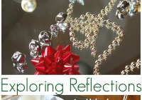 Christmas mirror play exploring reflections sensory science hands on learning