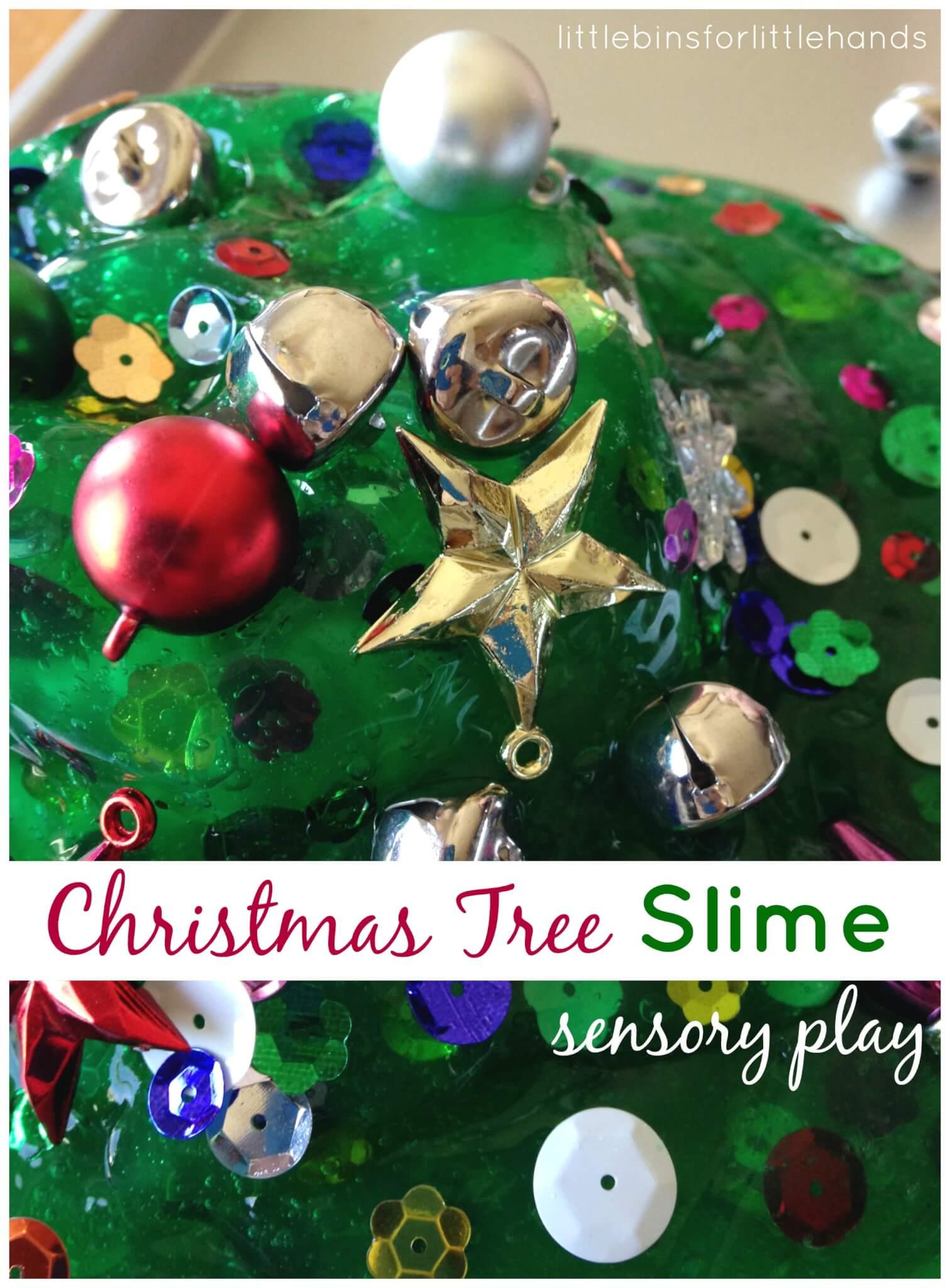 Christmas Tree Homemade Slime