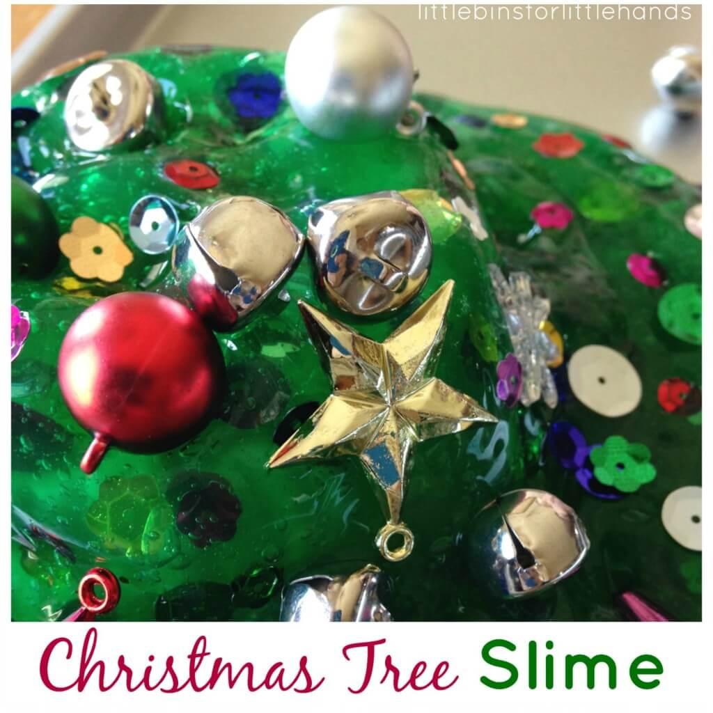 Christmas tree slime side bar