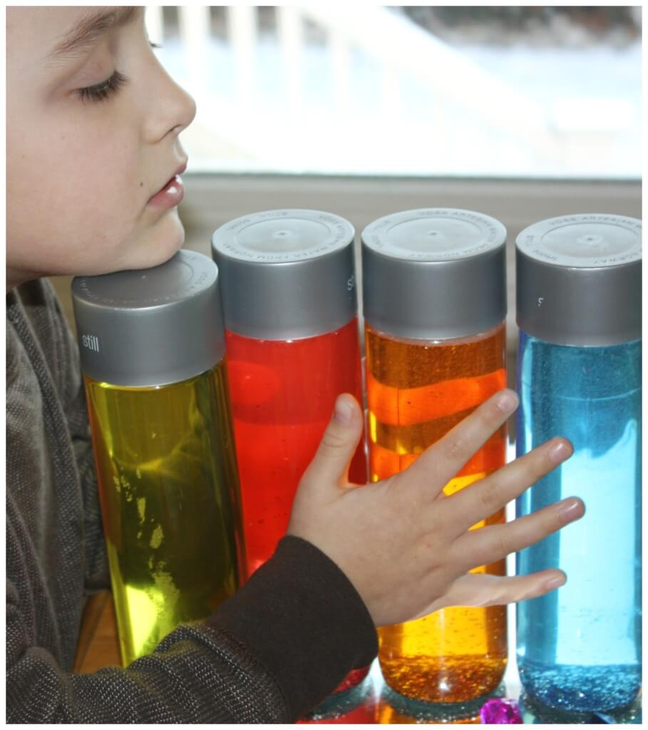 Color Play Exploring Sensory Bottles Mirror Play Science