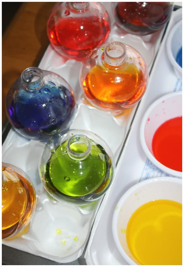 Color mixing christmas ornaments all mixed