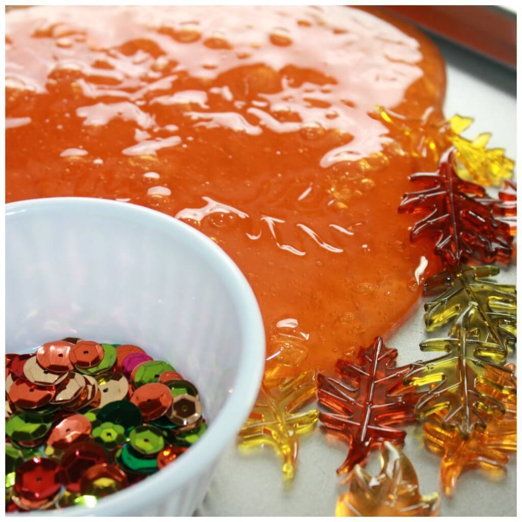 Fall Slime Recipe Invitation To Play Tray Set Up