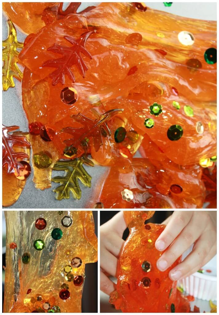 Fall Slime Recipe Playing With Slime Sensory Play