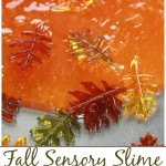 Fall Slime Recipe With Leaves Fall Sensory Play