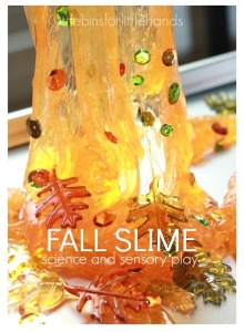 Fall Slime Science and Sensory Play Fall Activity