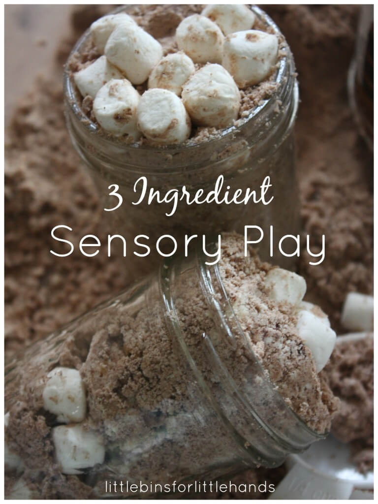 Hot Chocolate Cloud Dough 3 Ingredient Sensory Play
