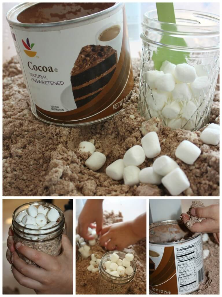 Hot Chocolate Cloud Dough Sensory Play With Making Pretend Hot chocolate