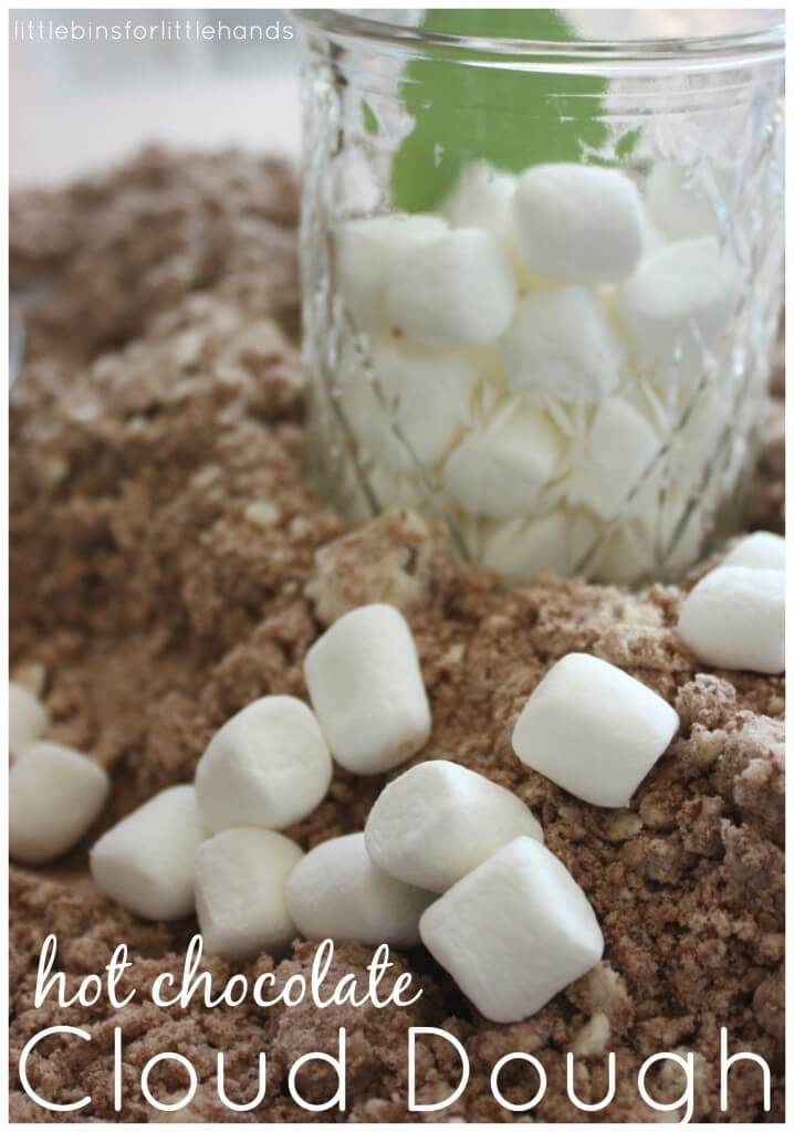 Hot Chocolate Cloud Dough With Marshmallows