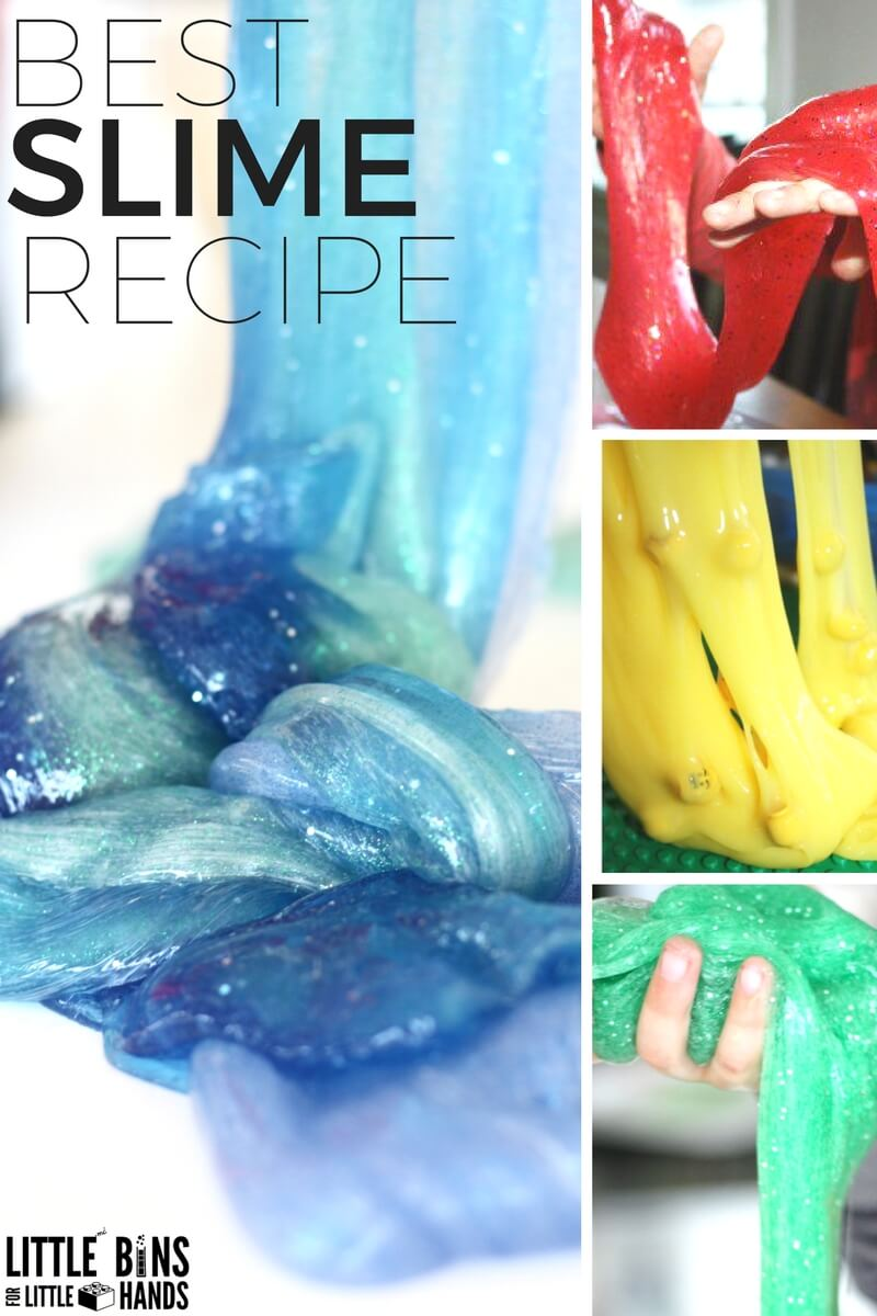 Liquid Starch Slime Recipe To Make Slime With Kids