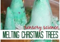 Melting Christmas Tree Baking Soda Science Sensory Play Activity