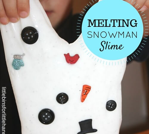 Melting Snowman Slime Winter Science and Sensory Play