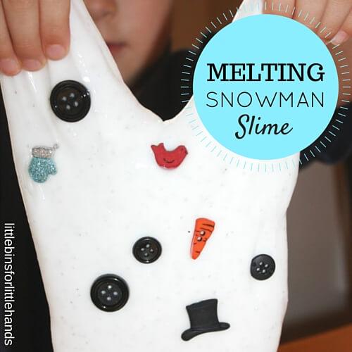 Melting Snow Slime Winter Sensory Play