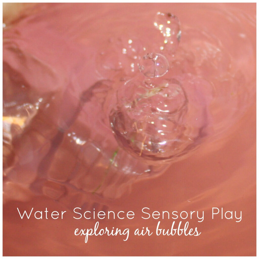 Peppermint Water Science Sensory Play Exploring Air bubbles
