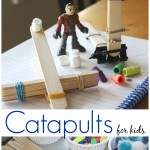 Popsicle Stick Catapults for Kids STEM Activity