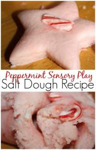Salt Dough Recipe Peppermint Sensory Play