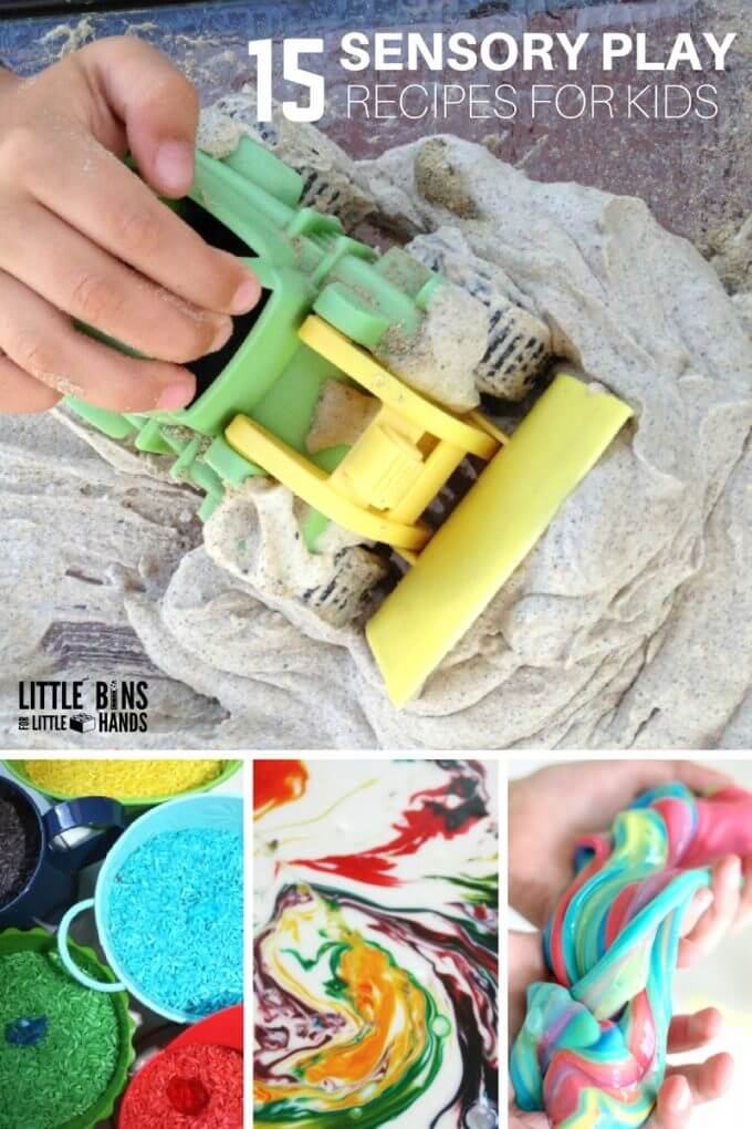 Sensory Play Recipes for Kids Tactile Activities
