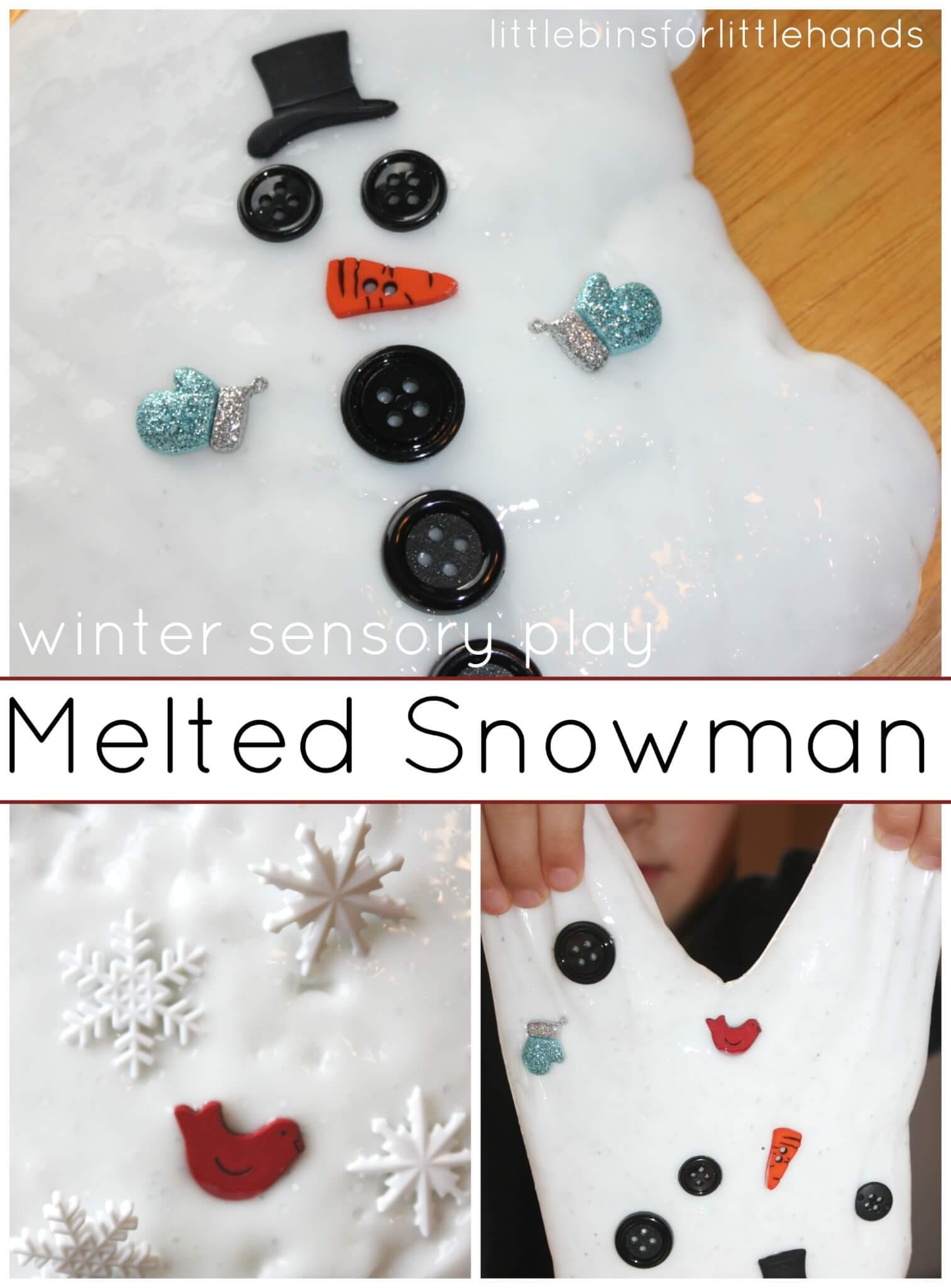 Snowman slime recipe