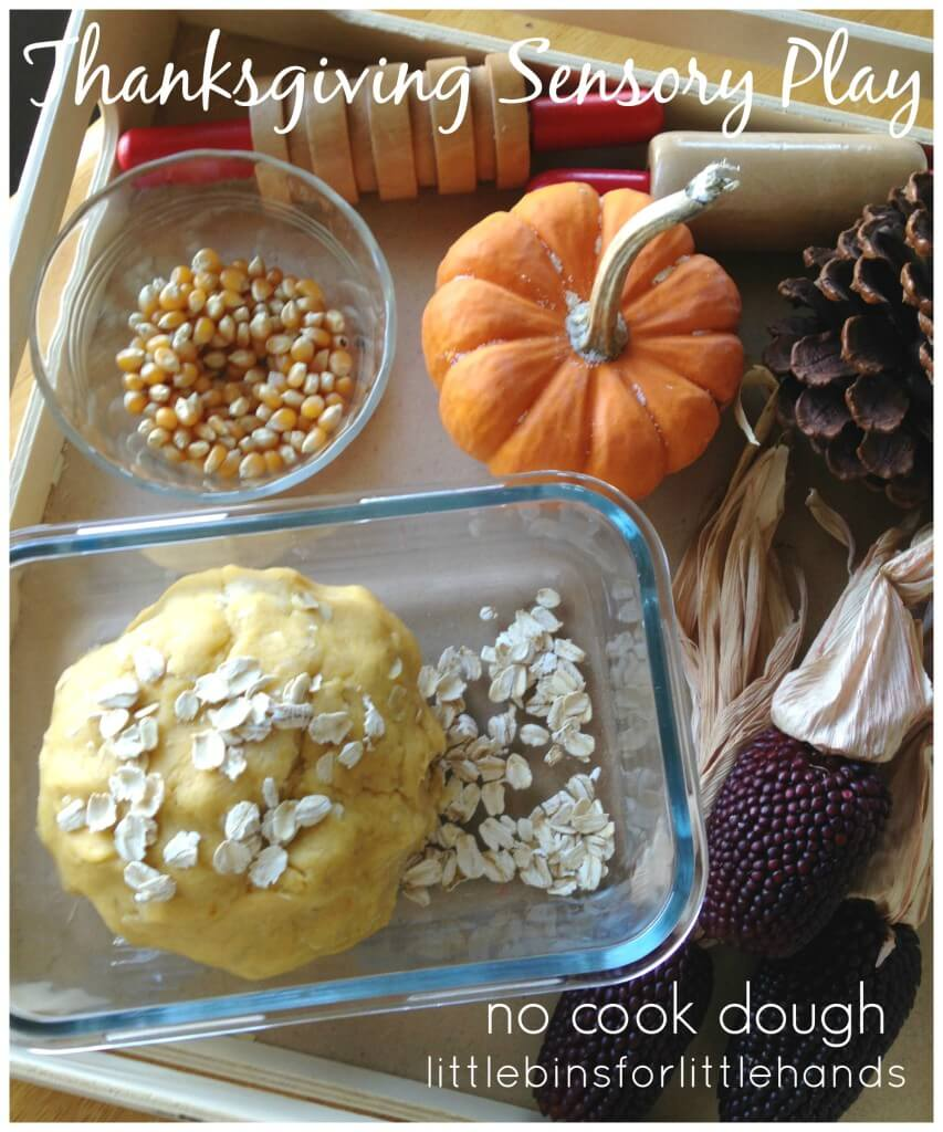 Thanksgiving Sensory Play No Cook Dough