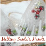 Winter Ice Melt Frozen Hands Science Activity Santa's Frozen Hands
