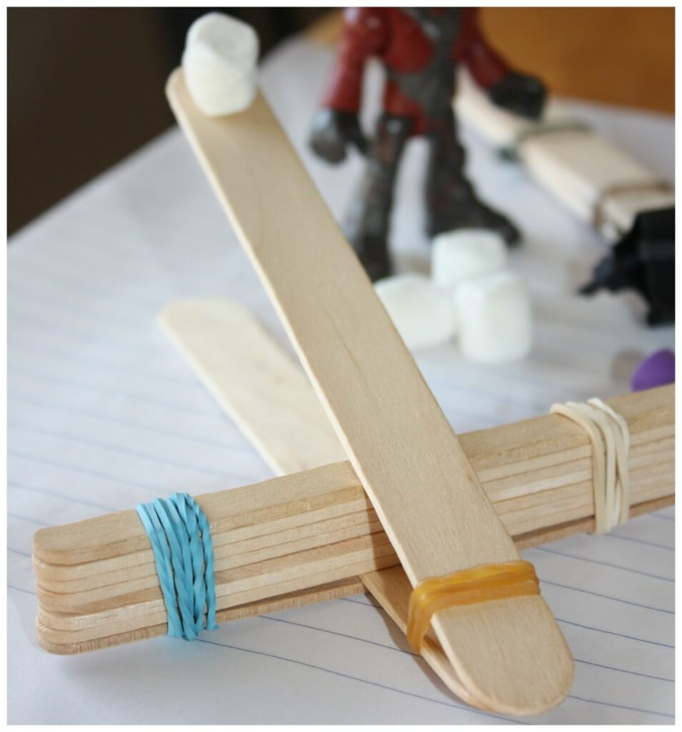 possible stick catapult rubber bands
