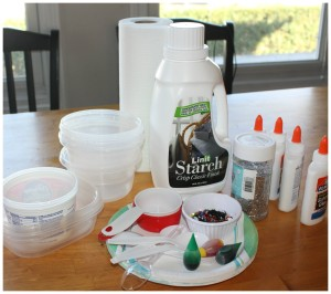 slime recipe party set up
