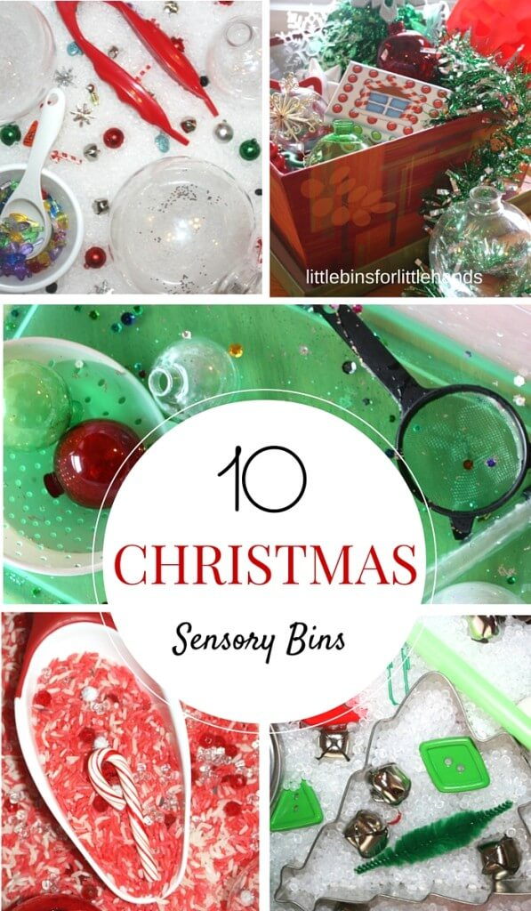 10 Christmas Sensory Bins Holiday Activities for Kids