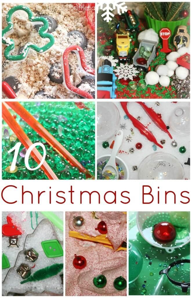 10 Christmas bins sensory play ideas easy sensory bins for Christmas