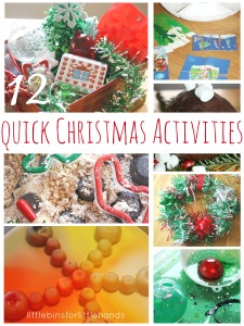 12 Quick Christmas Activities for Kids Science Sensory Crafts Play Dough Fine Motor Skills
