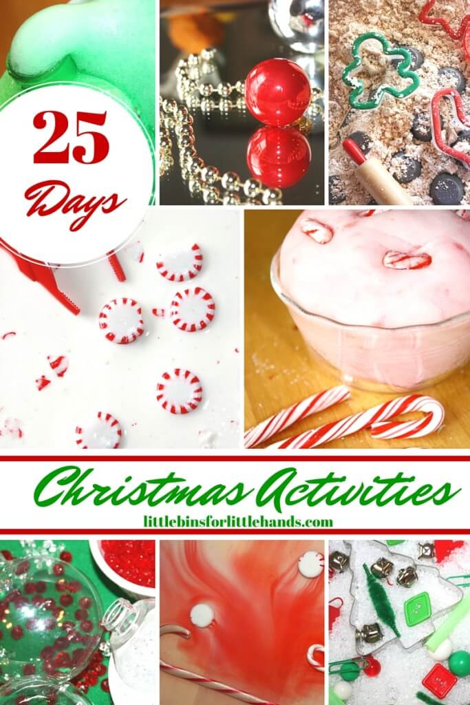25 Days of Christmas Sensory Play Activities Christmas Advent Calendar for Kids
