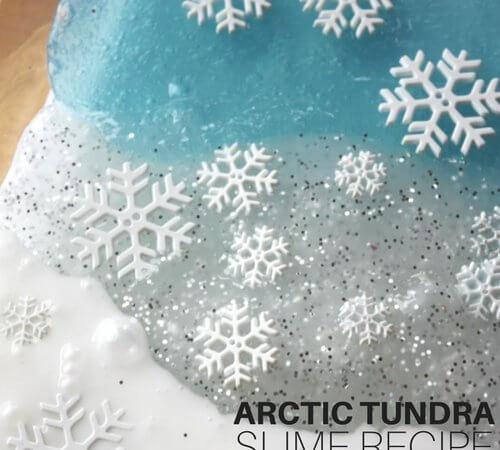 Arctic Slime Winter Sensory Play