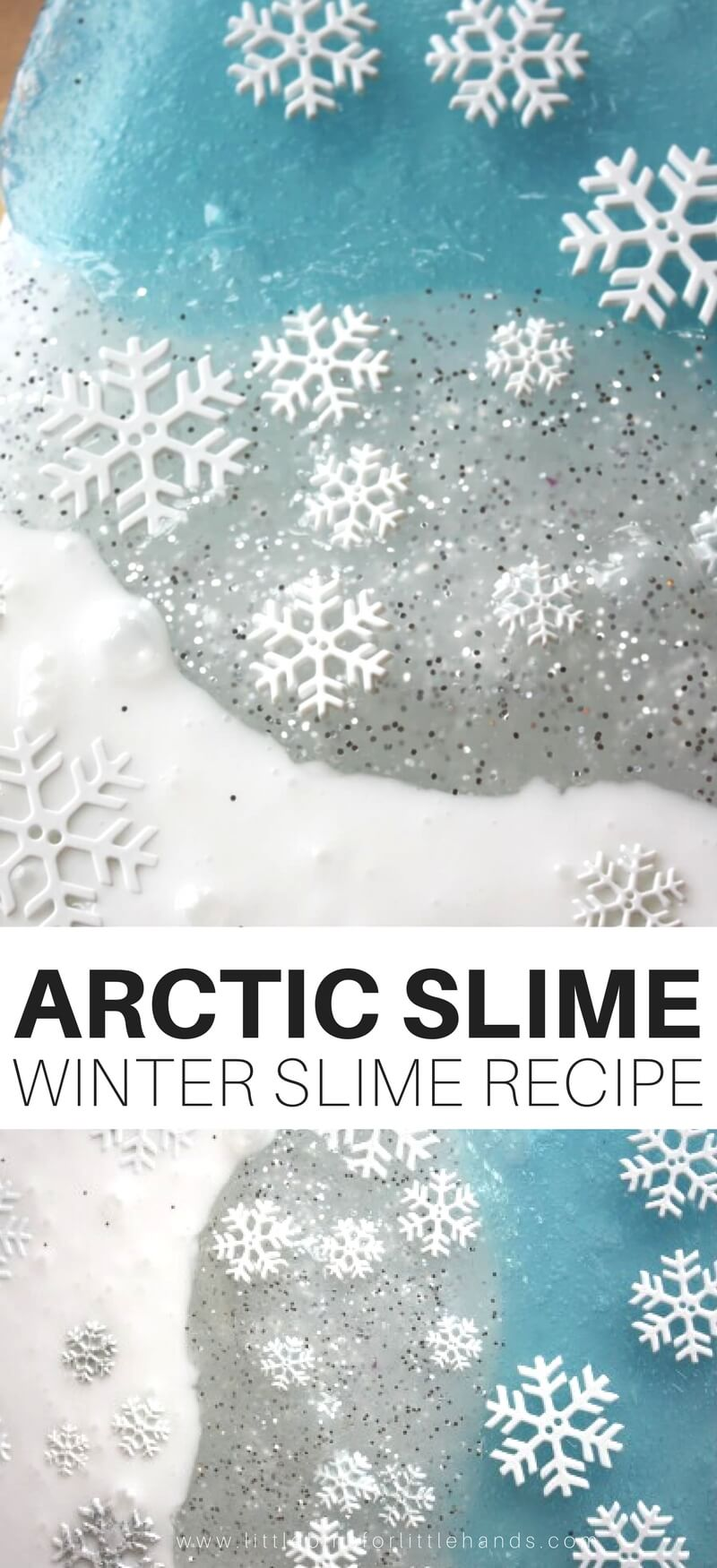 Make sure your penguins and polar bears don't meet up on this wintery expedition. Penguins prefer the South Pole and polar bears prefer the North Pole! Learn about the arctic and play with awesome homemade slime. Our arctic slime recipe is perfect for winter science and sensory play. Best part is you don't have to live in the arctic to enjoy this slime recipe.