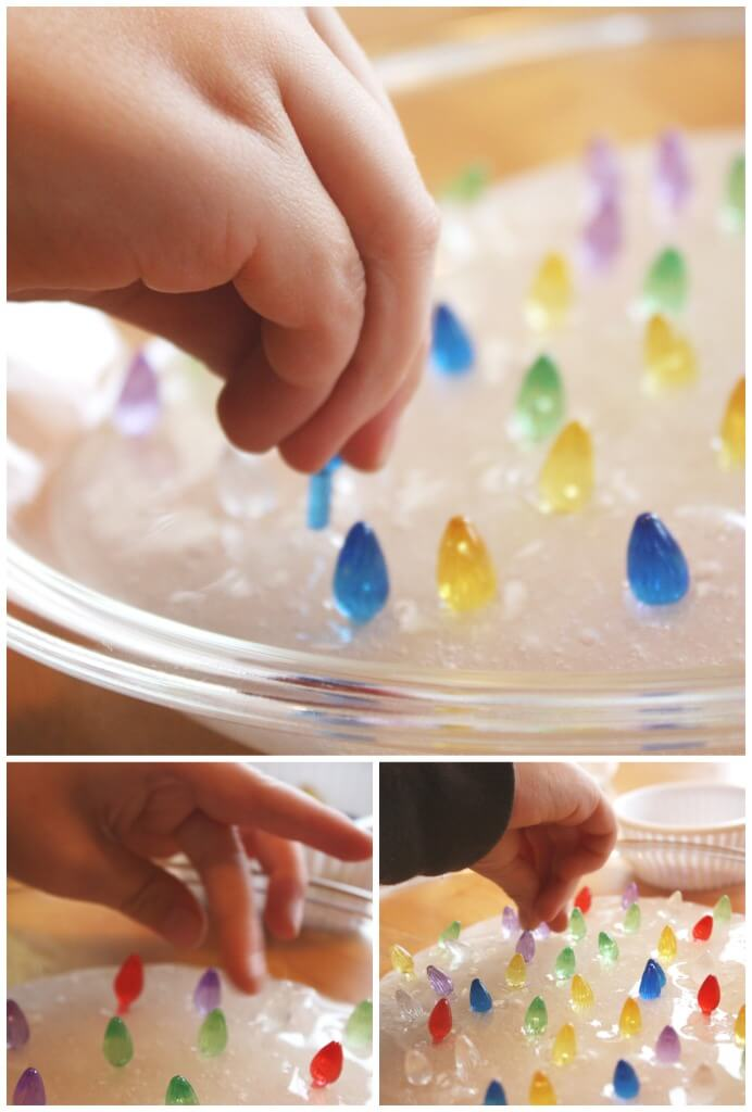 Christmas Lights Slime Fine Motor Play Sensory Play Activitiy